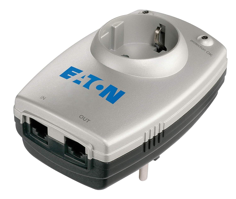 Eaton Protection Box 1 Tel DIN - Protector de sobretensió n (Filtro de ruido EMI/RFI), plateado Eaton Protection Box 1 Tel DIN - Protector de sobretensión (Filtro de ruido EMI/RFI) MGE UPS SYSTEMS 66709