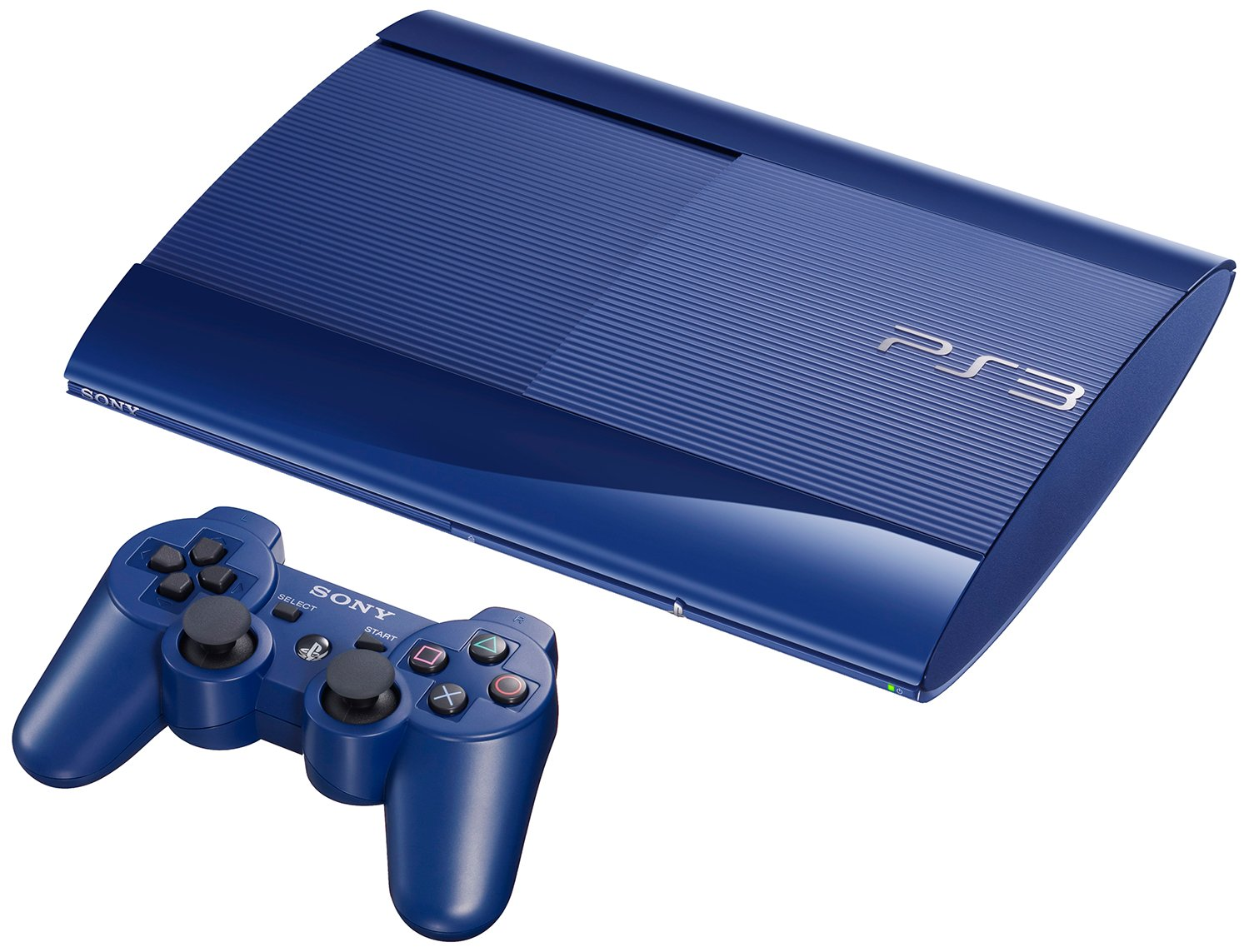 2823b9a16 Sony PlayStation 3 Limited Edition Azurite Blue 500GB Super Slim Console   Amazon.co.uk  PC   Video Games