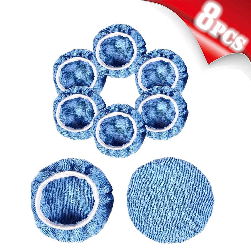 "AIVS Car Polisher Pad Bonnet Polishing Bonnet Buffing Pads Waxer Pads Cover For Car Buffer Polisher(9""-10"")"