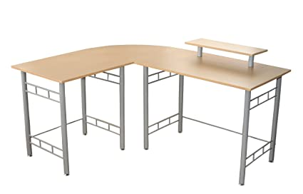 Target Marketing Systems Modern L Shape Wrap Computer/Writing/Office Corner  Desk With