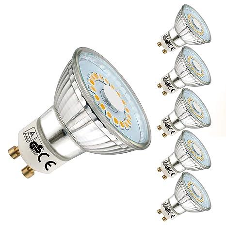 EACLL Bombilla LED GU10, Blanco Cálido GU10 LED 5W 470 Lúmenes Lámpara LED equivalente a