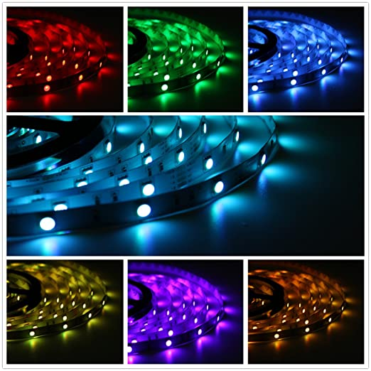 Salcar 5m Rgb Led Strip Mit 150 Leds 16 Farben Amazon De Elektronik
