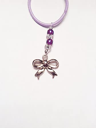 91ad14c61 Purple Cheer Silver Bow Charm Mini TagTailz Unique Fashion Accessory Gifts  For Girls - Gifts for