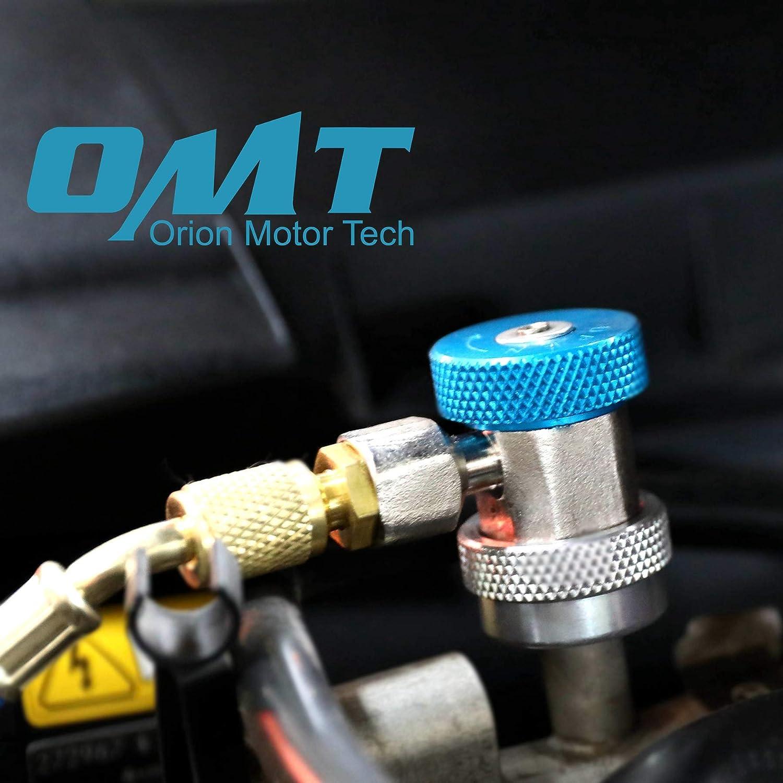 Orion Motor Tech AC Klimaanlage R134/A Quick Coupler Adapter/ /High Low mannigfaltigkeit Freon Anschluss