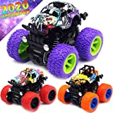 Monster Trucks Toys for Boys - Friction Powered 3-Pack Mini Push and Go Car Truck Playset for Boys Girls Toddler Aged 3…