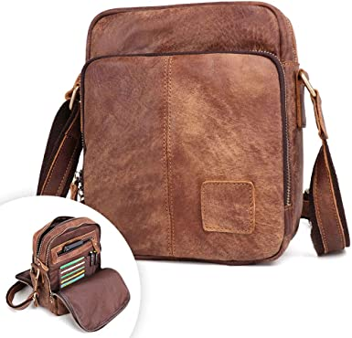 Men/'s Luxury Crossbody Shoulder Messenger Bag Small Satchel Handbag Tablet Case
