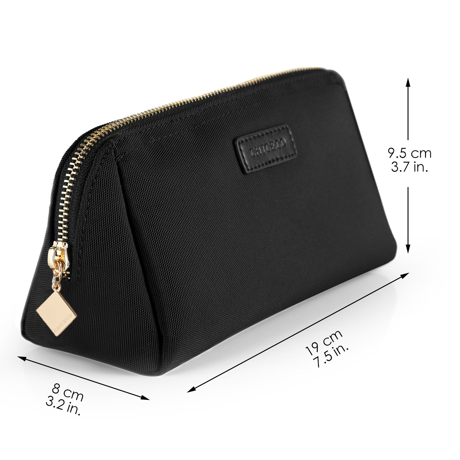 Portable Makeup Bag, Waterproof Handy Travel Cosmetic Pouch Clutch - Black