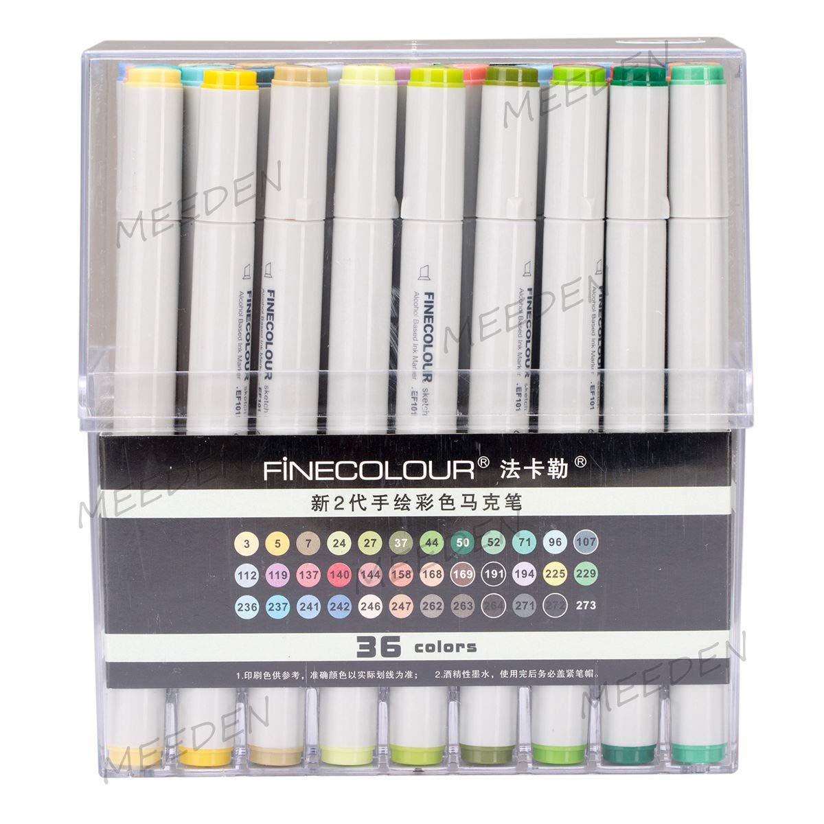 48 Colors Art Markers Pen Alcohol Based Marker Dual Headed Tips Drawing EF101