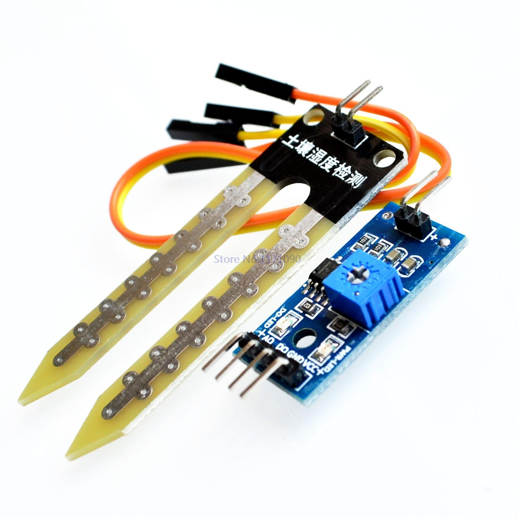 SuperiParts 100PCS/LOT Soil moisture meter testing module, soil humidity sensor
