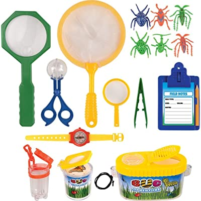 Kangaroo's Insect Bug Adventure Set; 18 Pc Backyard Exploration Kit: Toys & Games