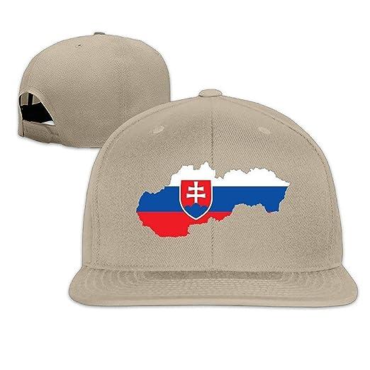 41d5d83c2dc Amazon.com  Unisex Slovakia Flag Map Flat Along Baseball Hat Hip Hop ...