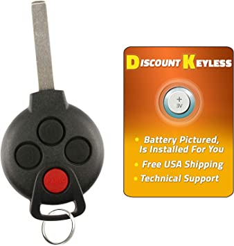 Replacement for Smart 2008-2015 ForTwo Remote Car Keyless Entry Key Fob