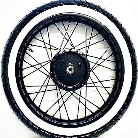 Styling Felge Schwarz Matt Pulverbeschichtet mit Weißwand Reifen Simson S50 S51