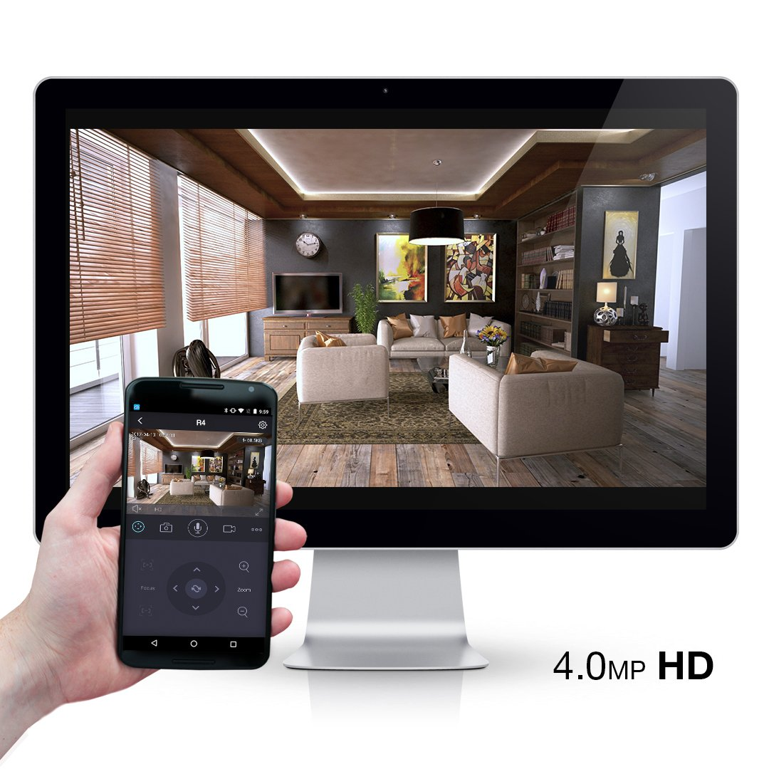 Foscam R4 WiFi Camera 2k(4MP) HD, Free Cloud Storage, Mutual