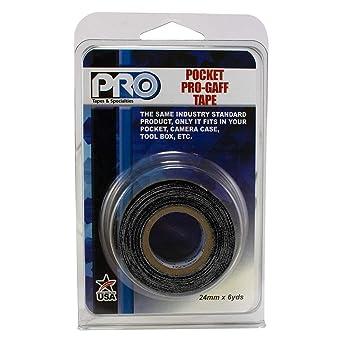 """Black ProTapes 306GB16MBLA1 PRO Pocket Gaff Tape 1/"""" x 6 yd"""