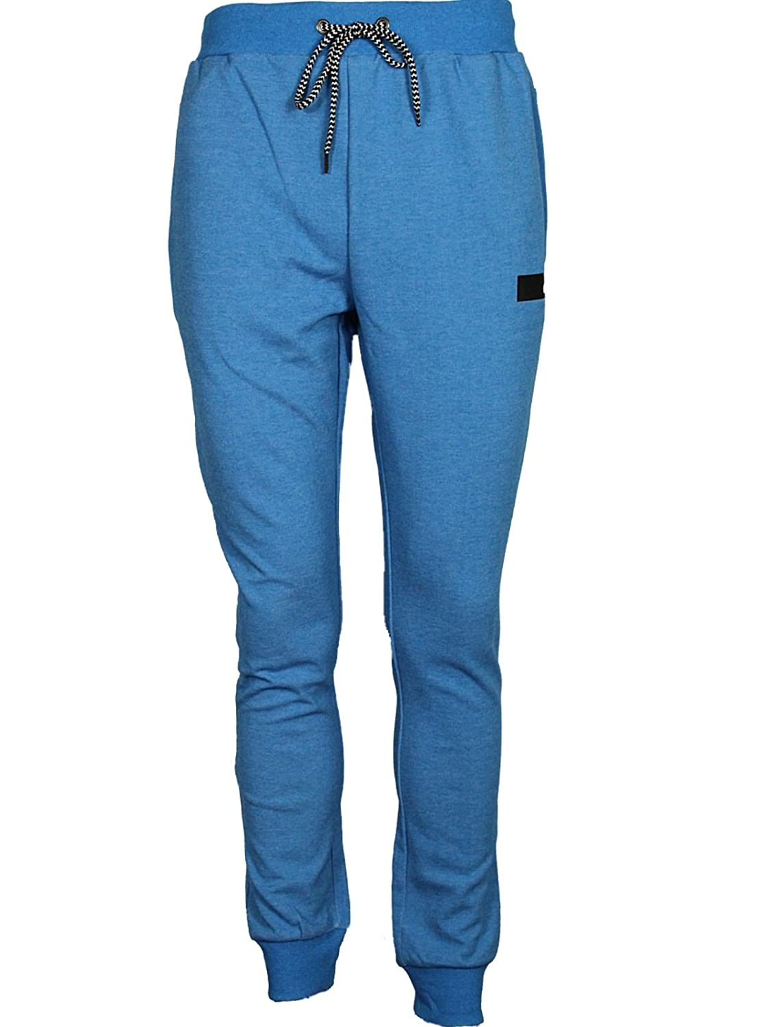 MENS TROUSER JOGGER PANTS IN GREY MARL & BLUE MARL COLOURS RRP 29.99