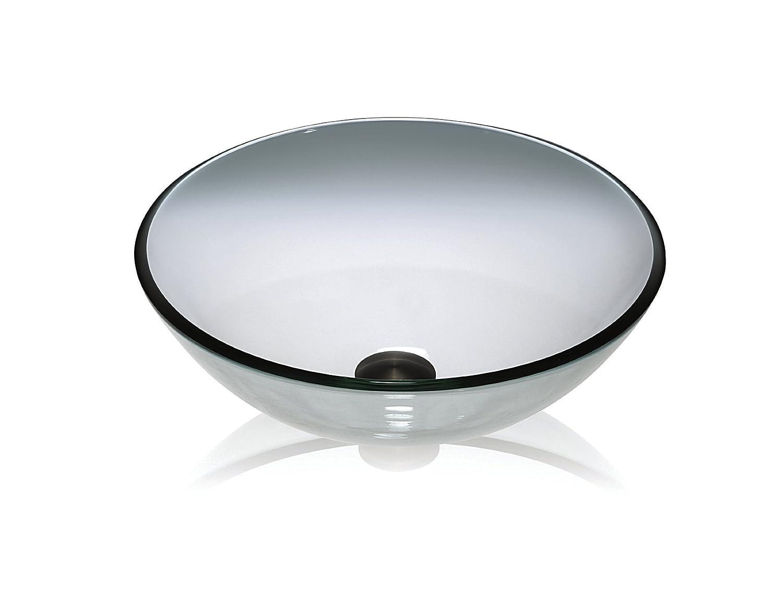 Lenova Gv 01 Round Glass Vessel Sink Clear Amazon Com