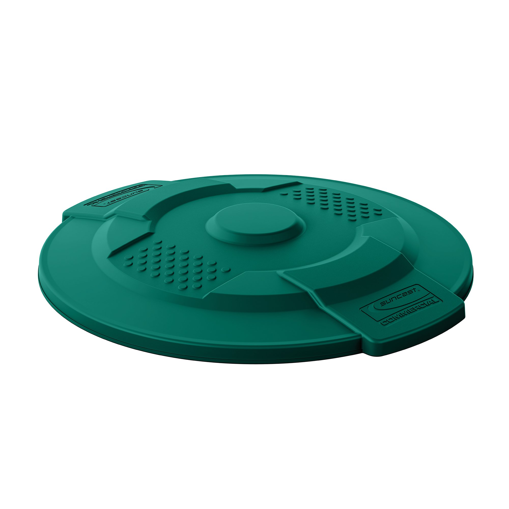 Suncast Commercial TCU20LIDG Utility Trash Can, 21.09'' Height, 2.55'' Width, 21.09'' Length, Plastic, Green