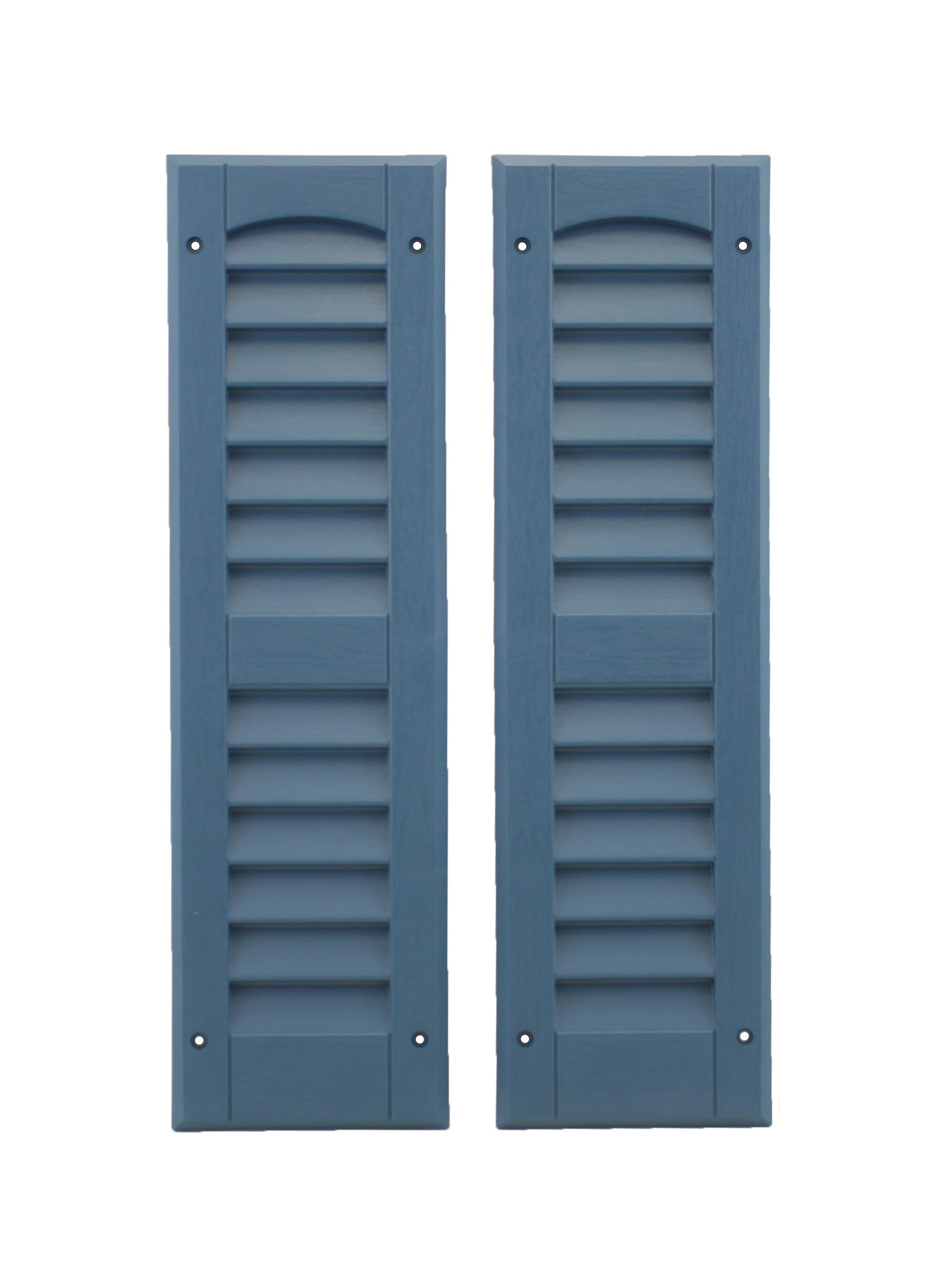 Louvered Shed or Playhouse Shutters Blue 1 Pair 6'' x 21''