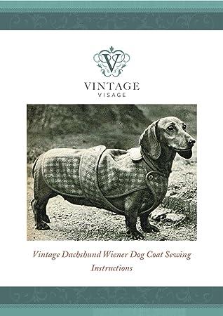 Vintage Visage Schnittmuster mit voller Größe, Papier, für Dackel ...