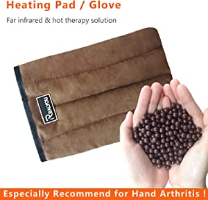 Healthy Heating Pad, Arthritis Pain Relief Glove - Reusable Microwavable Moist Warm Therapy Heating Pads for The Hands, Relieve for Carpal Tunnel Arthritis Pain and Therapy Finger Stiff - Coffee