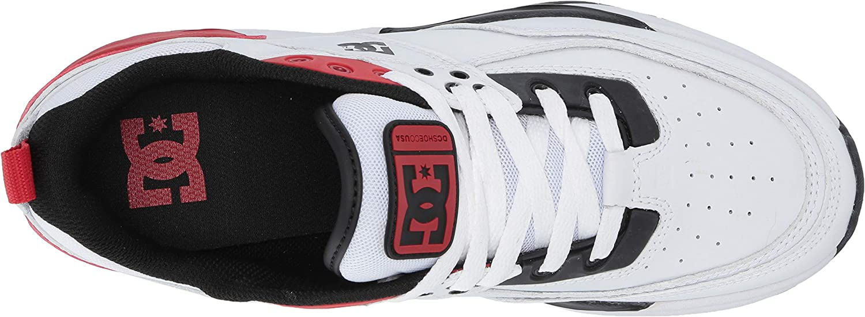 DC - Chaussures à Lacets E.Tribeka Se Low pour Femme Blanc Rouge Noir
