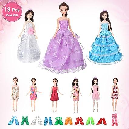 7a5b70d84 Amazon.com  Vovice Doll Clothes Set for Barbie Dolls Handmade Doll ...