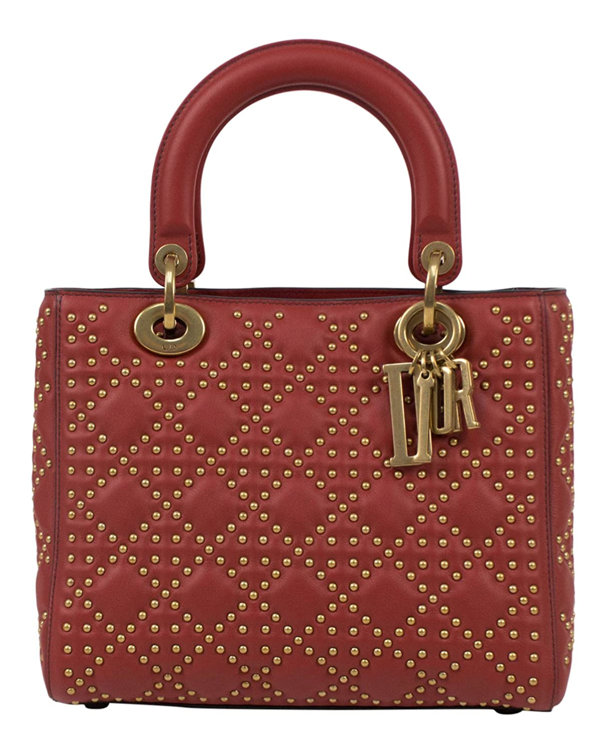 24d2b10144a5 Amazon.com  CHRISTIAN DIOR.  Lady Dior  Red Leather W Attachable Strap  Shoulder Bag  Baby