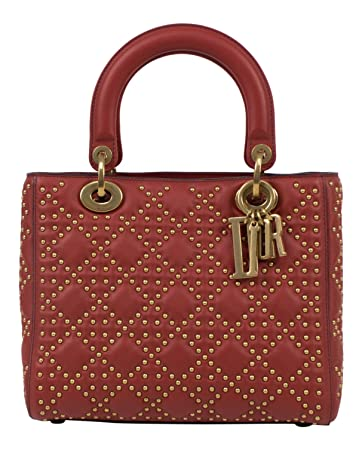 45fd0cf7a08 Amazon.com  CHRISTIAN DIOR.  Lady Dior  Red Leather W Attachable ...