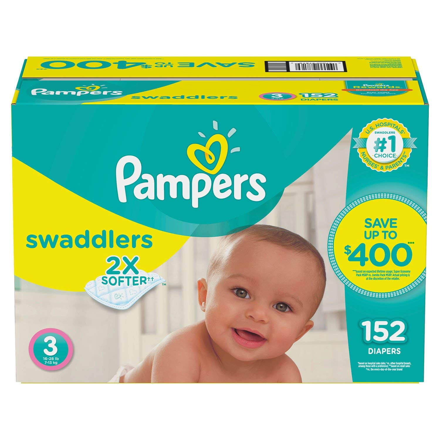 Pampers Swaddlers Diapers (Size 3, 154 ct.)