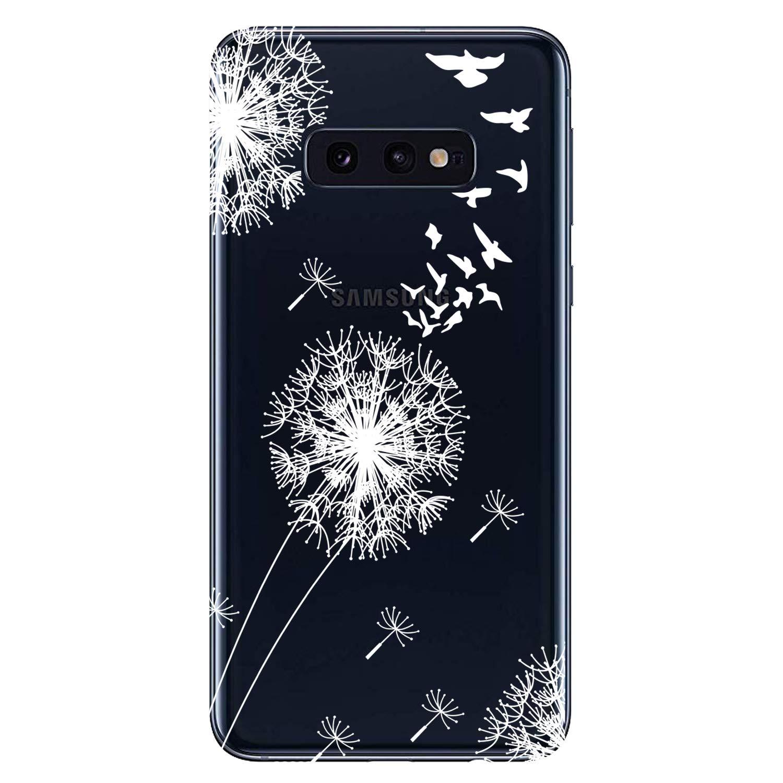Motif B HopMore 3X Coques Coque pour Samsung Galaxy S10e Transparente Motif Swag Silicone Souple Etui Antichoc Ultra Mince Fine Gel Case /Étui Housse Transparent Design pour Fille Femme Homme
