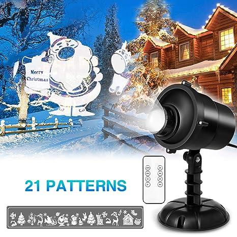 Luces del Proyector de la Navidad, Elelight Impermeable Exterior Decoración Luz de Proyector con Control