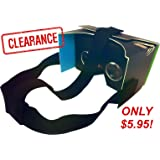 """Nfōld Google Cardboard V2 - Black Virtual Reality Headset Kit + Head Strap - Version 2.0 VR 3D Glasses - Fits Smartphones up to 6"""" Screen Size - Compatible with iPhone and Android Devices"""