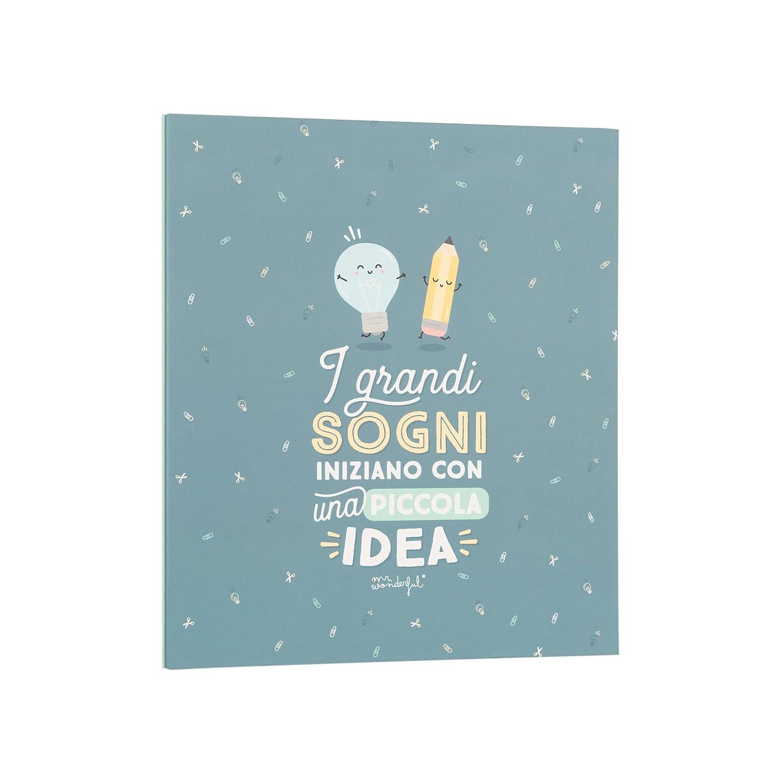 Mr. Wonderful archivador, I grandes sueños iniziano con una pequeña Idea: Amazon.es: Oficina y papelería