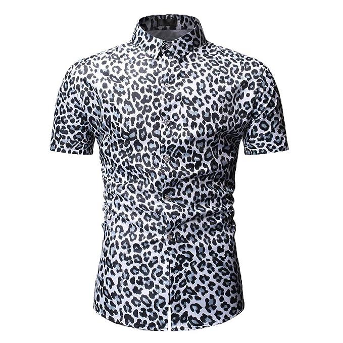 HCFKJ Camisetas Hombre Blusa De Manga Larga con Estampado De ...