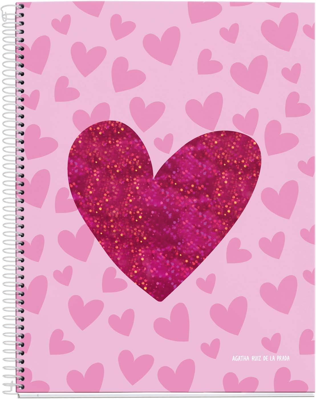 Agatha Ruiz de la Prada Cuaderno A4 cuadrícula 120 hojas Lurex