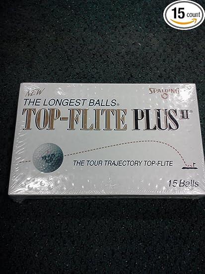Amazon com : SPALDING TOP-FLITE PLUS II value Pack 15 BALLS
