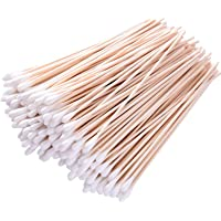 Cotton Swabs 6 Inch Long Sticks 600 Pieces Applicator Single Tip with Wooden Handle, Accessory For Gun Cleaning, Jewelry, Ceramics, Electronics, Fabric Decoration, Arts and Crafts, Cats and Dogs