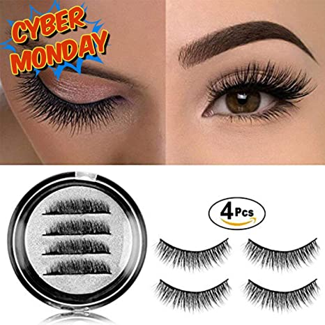 8e24ea889d5 3D Magnetic False Eyelashes, Fake Lashes Extensions Magnetic Flutter Fake  Eyelashes Reusable Double Long Blink