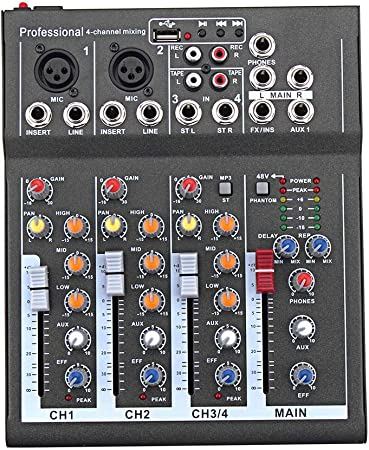 Domeilleur - Mini Mezclador de Audio con Mesa de Mezclas de Sonido ...