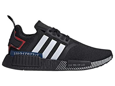d377141f38ef0 Amazon.com | adidas Men's Originals NMD R1 Black/White/Lush Blue ...