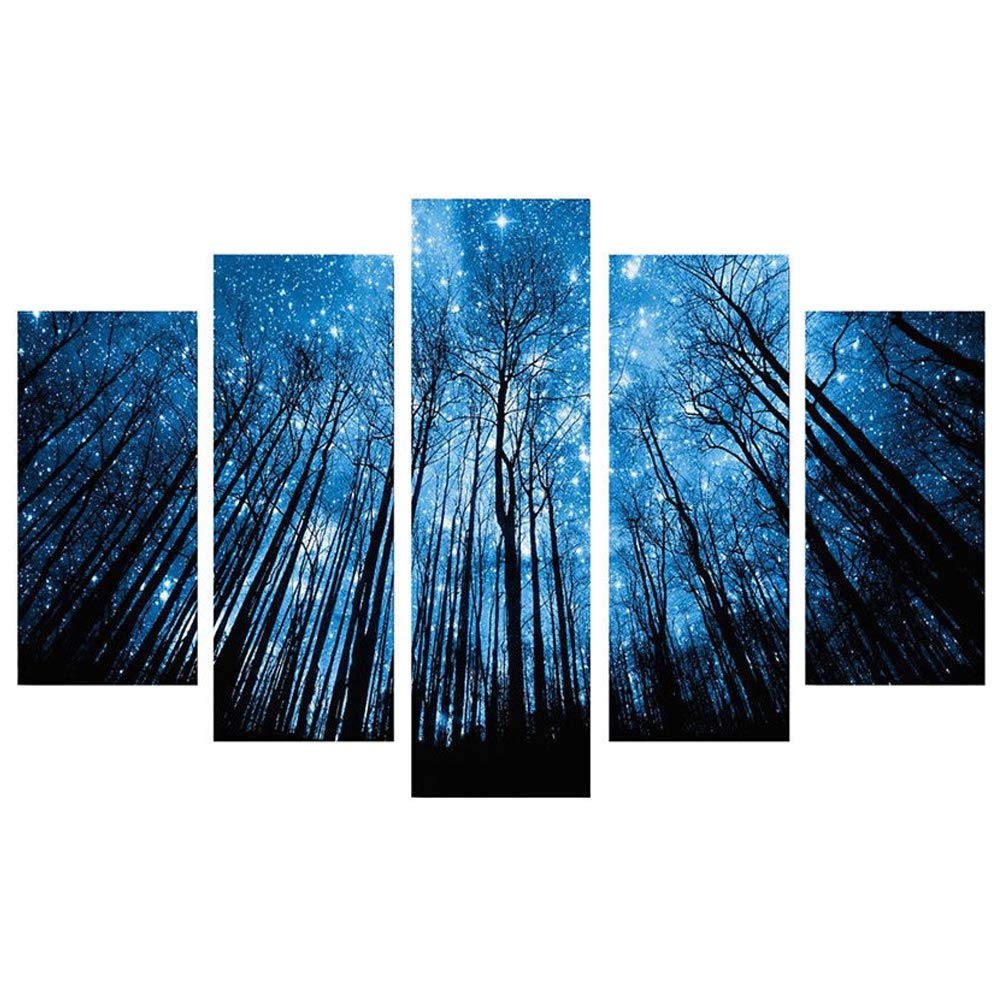 Home living room decoration Starry sky Blxecky DIY 5D Diamond Painting Cross Stitch Crafts Kit 5 sets of splicing paintings