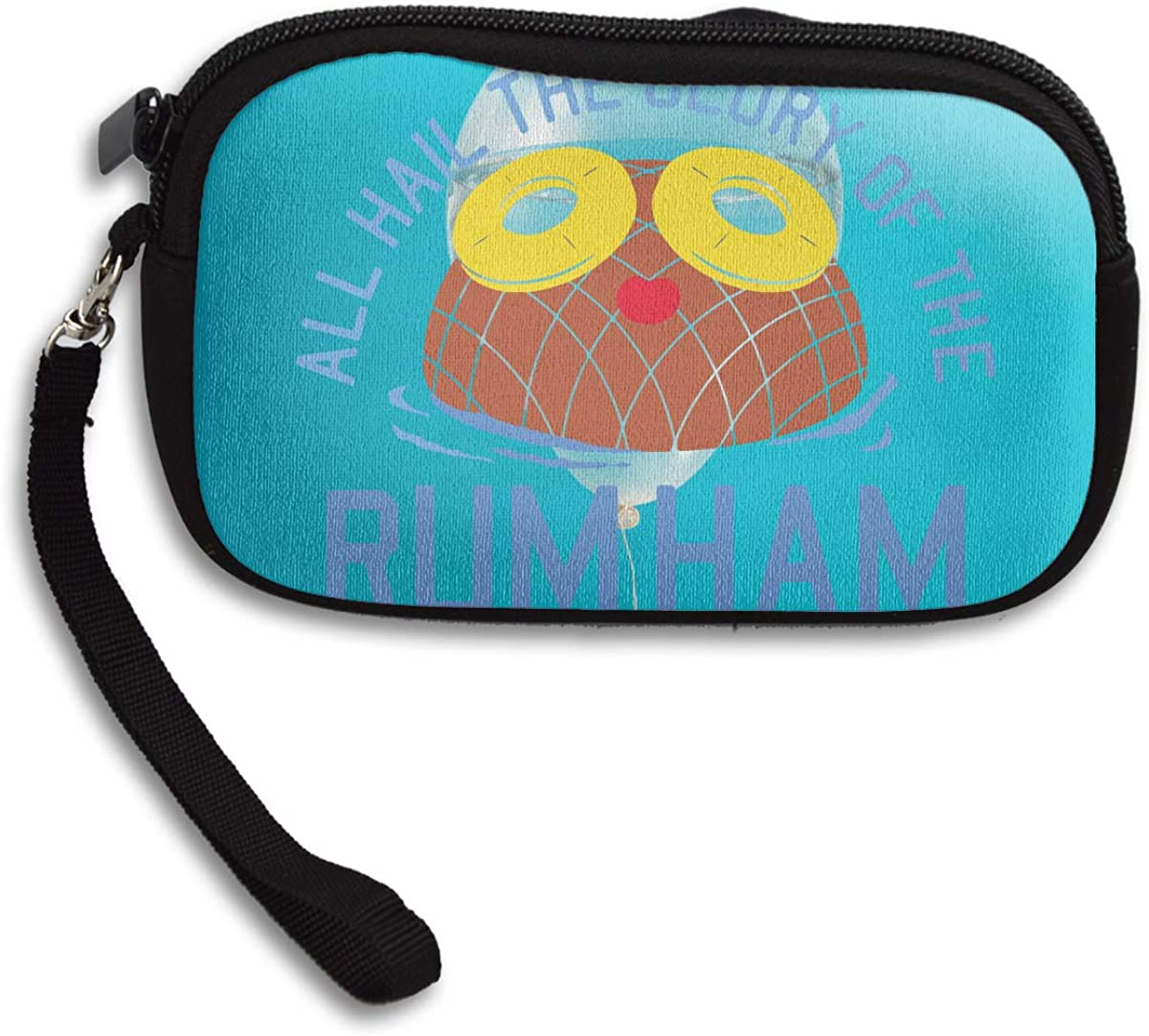 Rum Ham Deluxe Printing Small Purse Portable Receiving Bag