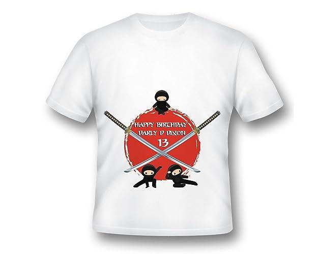 6be6b99a93fdb Amazon.com: Personalized Ninja Birthday Shirt, Karate Birthday Shirt ...