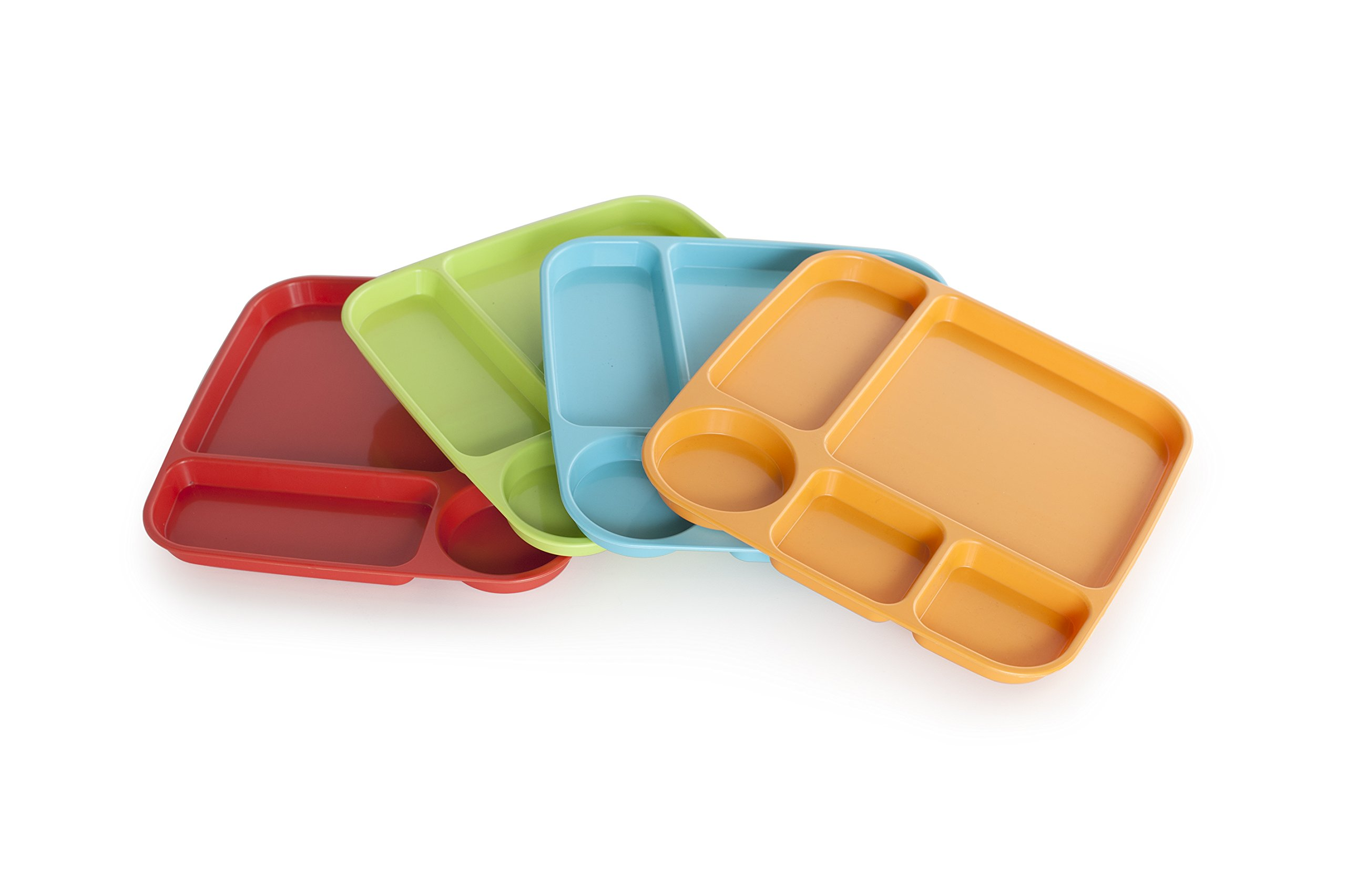 Nordic Ware 60155 Lightweight Party Tray, High-Heat Plastic, Assorted, 4 Piece, Fiesta Colors by Nordic Ware