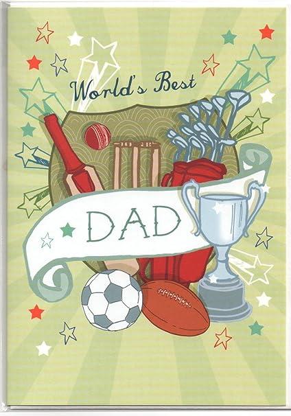 Mejor papá del mundo tarjeta - deportes - Puesto de libre ...