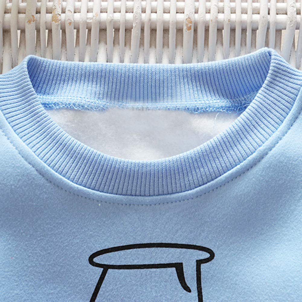 Milk Toddler Baby Girls Pink Top Kids Boy Long Sleeve Blue Mom Cute Cup Sweater Baby Best Gift