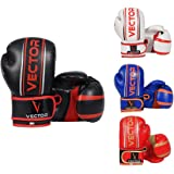 Vector Sports Maya Hide Leather Hand Crafted Pro Style Kids Boxing Kickboxing Children MMA Sparring Gear Junior Heavy Bag Training Gloves 4-6OZ