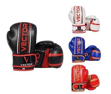 Vector Deportes Maya Ocultar Cuero hecho a mano Pro estilo infantil de boxeo Kickboxing niños MMA Sparring Gear Junior saco entrenamiento guantes 4 - 6oz: ...
