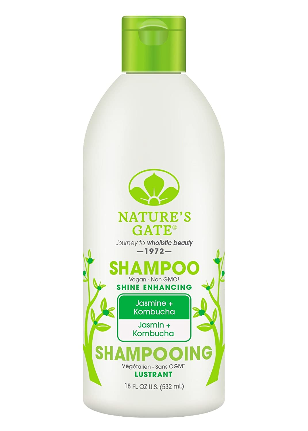 Nature's Gate Jasmine + Kombucha Shine Enhancing Shampoo, 18 Fluid Ounce